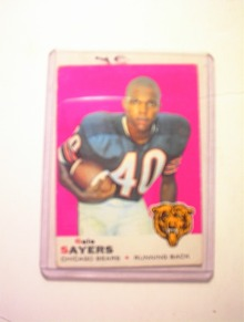 T.C.G. Gale Sayers Chicago Bears Card