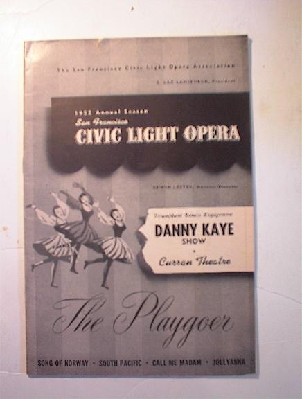 Civic Light Opera,Danny Kaye Show 1952