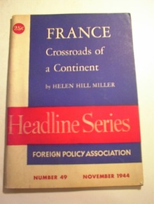 FRANCE Crossroads of a Continent by H.H.Mille