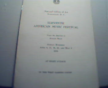 Program from the American Muisc Fest! 1954!