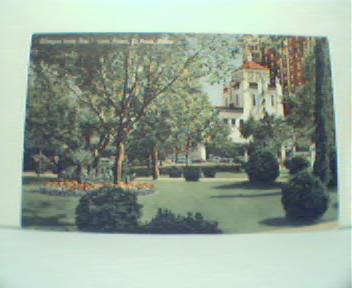 San Jacinto Plaza in El Paso Texas! Color!