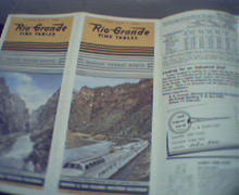 Rio Grande Time Tables Denver Rio Grand W RR