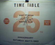 Timetable;Colorado &Southrn, Burlington RR!