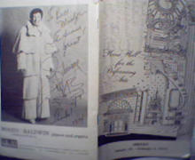 Liberace Program with Autograph over Photo!