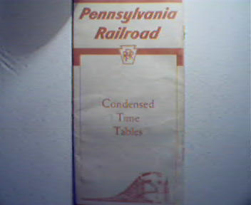 Pennsylvania Rail Road Time Tables from 1955