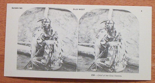 Stereoview Card-Indian Chief of Gros Ventres
