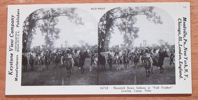 Stereoview Card-Sioux Indians in Nebraska