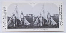 Stereoview Card-Indian Family at Wigwam.