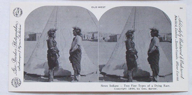 Stereoview Card-Sioux Indians, repro of 1894