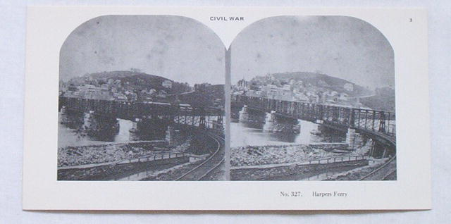 Stereoview Card-Civil War view/ Harpers Ferry