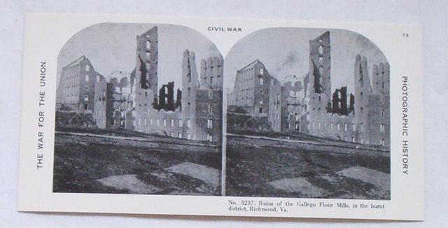 Stereoview Card-Civil War damage,Richmond, VA