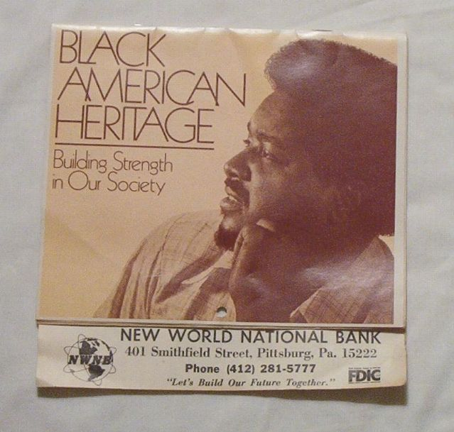 Black American Heritage 1984 calendar