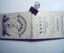 Savoy Cafe Notepaper Holder!