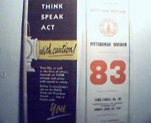 Baltimore and Ohio Timetable No. 83 c1961!