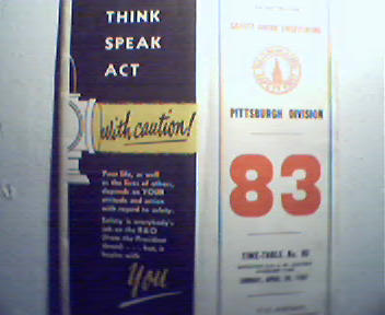 Baltimore and Ohio Timetable No. 83 c1961!