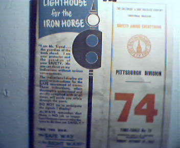 Baltimore and Ohio Timetable No.74 c1955!