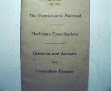 PA Railroad Machinery Examinations Q&A 1930