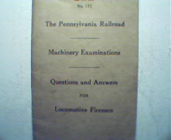 PA Railroad Machinery Examinations Q&A 1930
