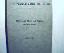 Pennsylvania Rail Road Brake&Train Instr.