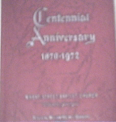 Centennial Anniversary Wheat Street Baptist Church,1972