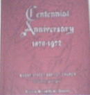 Centennial Anniversary Wheat Street Baptist Church,1972