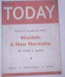 TODAY National Weekly,WANTED:A New NORMALCY