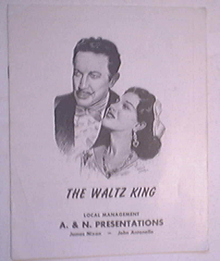 The Waltz King starring Richard Bonelli Margit Bokor