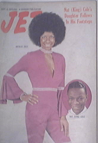 JET 9/4/1975 Natalie Cole and Nat King Cole cover