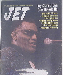 JET 11/30/1978 Ray Charles cover