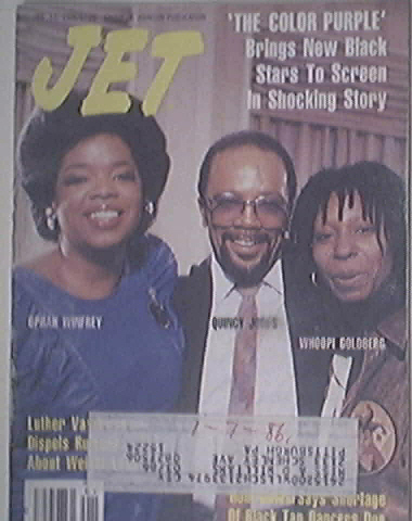 JET 1/13/1986 Oprah Winfrey, Quincy Jones, Whoopi cov