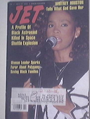 JET 2/17/1986 Whitney Houston cover