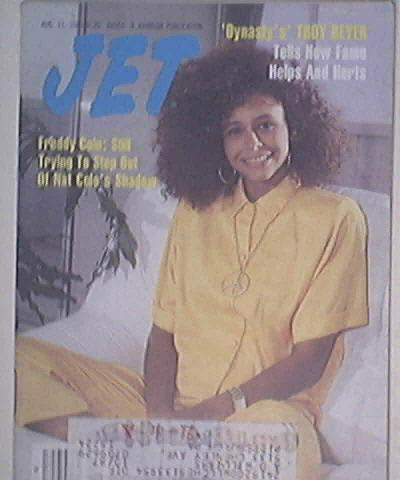 JET 8/11/1986 'Dynasty's' Troy Beyer cover