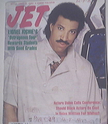 JET 12/15/1986 Lionel Richie cover