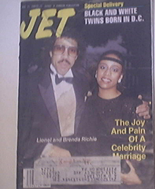 JET 8/15/1988 Lionel Richie and Wife Brenda cover