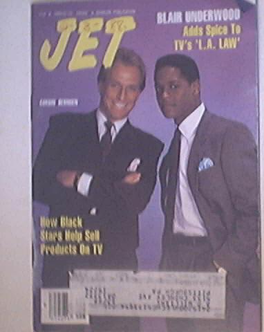JET 2/8/1988 Blair Underwood and Corbin Benson cover
