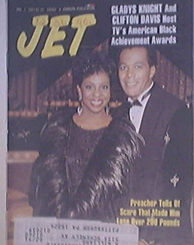 JET 1/7/1991 Gladys Knight and Clifton Davis Cover