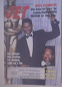 JET 4/16/1990 Denzel Washington Oscar cover