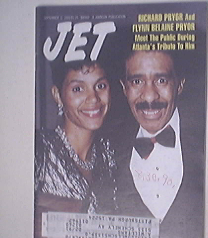 JET 9/3/1990 Richard Pryor and Flynn Belaine Pryor cov