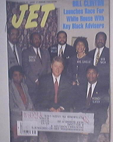 JET 8/3/1992 Bill Clinton,Bobby Bush,Avis Lavelle cover
