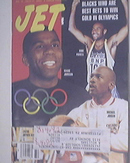 JET 8/10/1992 Magic Johnson,Mike Powell,M.Jordan cov