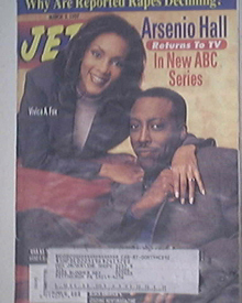 JET 3/3/1997 Arsenio Hall and Vivicsa A. Fox cover