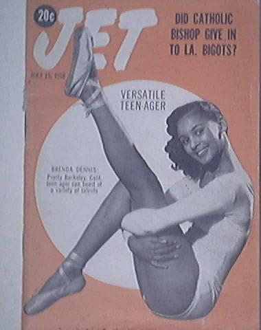 JET 5/15/1958 Brenda Dennis Versatile Teen-Ager cover