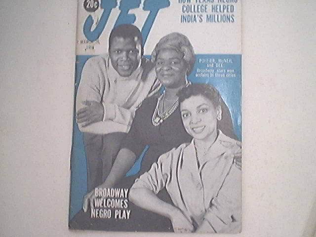 JET 3/26/1959 Sidney Poitier, McNeil and Dee Play Cov