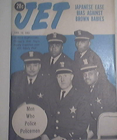 JET 1/19/61 Chicago's First Black Deputy Inspectors Cov