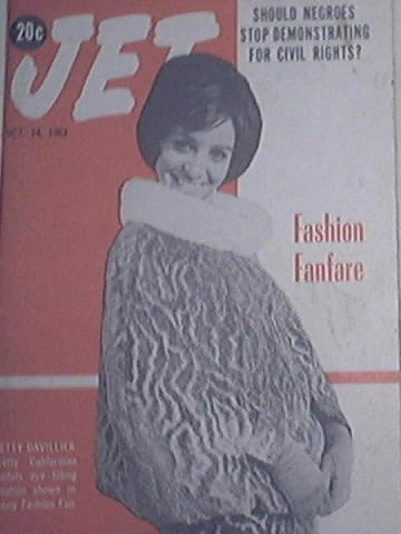JET 10/24/1963 FASHION FANFARE Betty Davillier cov