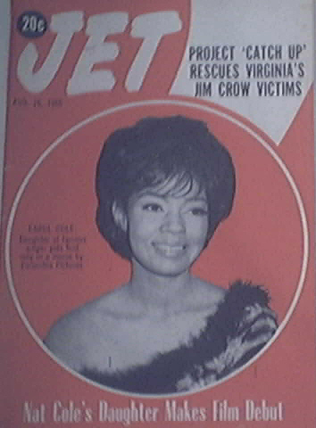 JET 8/26/1965 Nat King Cole's Daughter cover