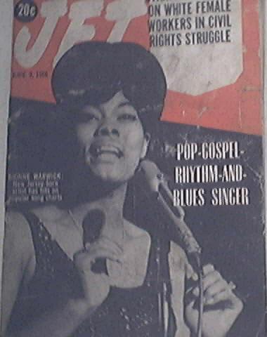 JET 6/9/1966 Dionne Warwick Singer Cover