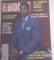 EBONY Sept 1982 Satchel Paige, Larry Holes Cover