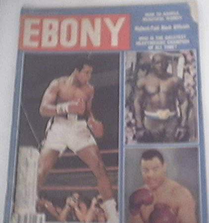 EBONY 3/1978 Ali, Joe Louis and Jack Johnson cover