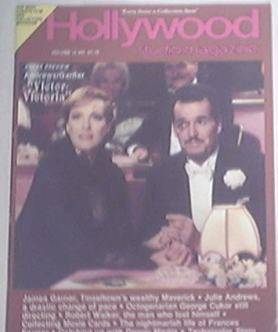 Hollywood Studio Magazine 2/1982 Victor Victoria cover